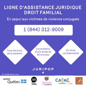 Ligne d'assistance juridique en droit familial